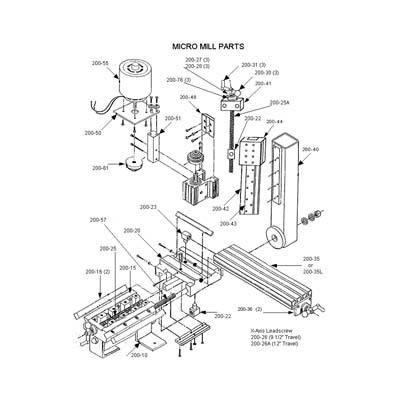 Micro Mill Parts & Accessories